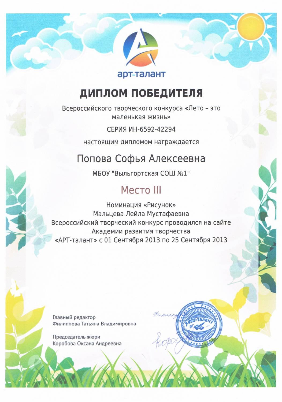 Всероссийский конкурс арт будущее 2017